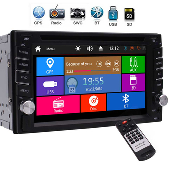 Double Din Car Radio Bluetooth Car Stereo GPS Navigation DVD CD Player 2 Din 6.2 Touchscreen FM USB SD Steering Wheel Control image