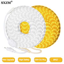 220V LED Strip 2835 High Safety High Brightness 120LED/M Flexible LED Light Outdoor Waterproof LED Strip Light