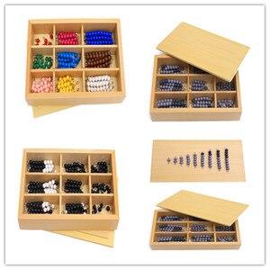 Детские деревянные игрушки Монтессори, новые деревянные детские игрушки Монтессори, учебные пособие по математике, Красочные палочки с бус...