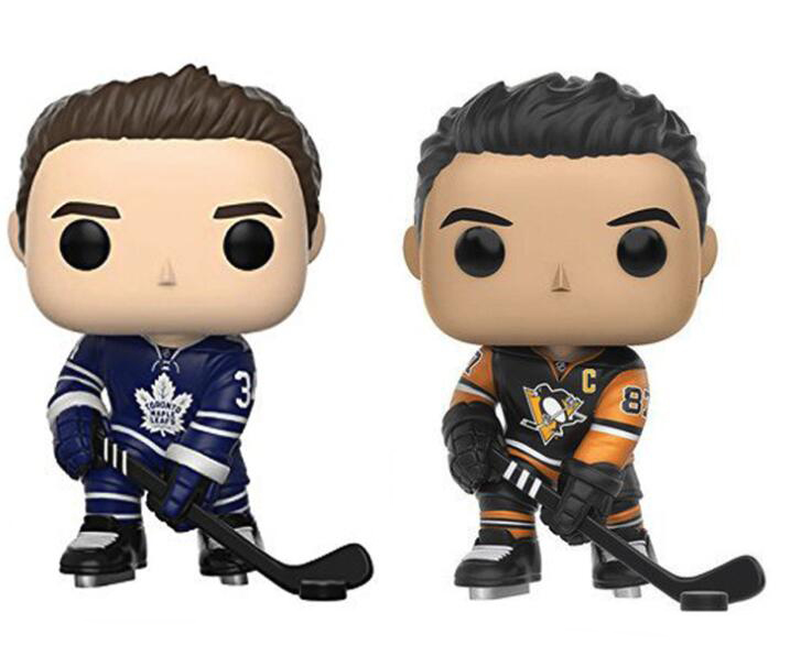 Ice Hockey Player Sidney Crosby & Auston Matthews Figure Collection Vinyl Doll Model Toys