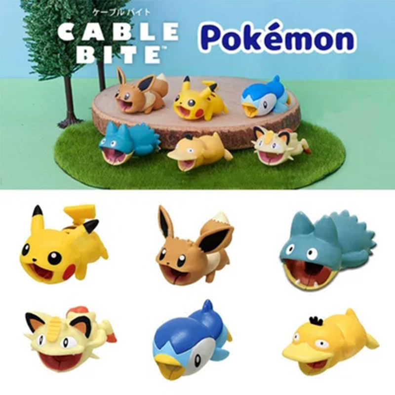 Cute Pokemon Go Cable Protector USB Charging Cable Take A Bite Pikachu Cable Chompers 1