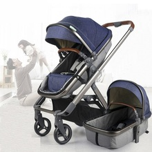2 in 1 baby stroller with carrycot,high landscape and portable light weight pram,kinderwagen,seat reversable foldable suitable for newborn newborn weight and large for gestational age lga newborns