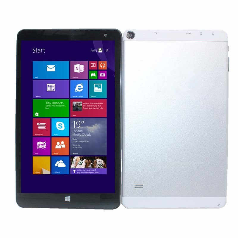 Me windows 8.1 tablet pc 8 Polegada 1280x800 ips pontos capacitivos tela de toque quad core 1 + 16 gb câmeras duplas z3735f hdmi 32-bit
