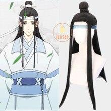 Perruque de Cosplay Anime Mo Dao Zu Shi Lan Wangji, The Untamed Lan Zhan, le grand maître de la culture démoniaque, accessoires Hanfu