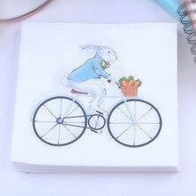 Фабричная Mashimaro салфетка с принтом для велосипеда бумажная подложка под столовые приборы салфетка для отелей под заказ 20