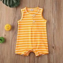 2020 г Летняя одежда для новорожденных мальчиков и девочек хлопковый