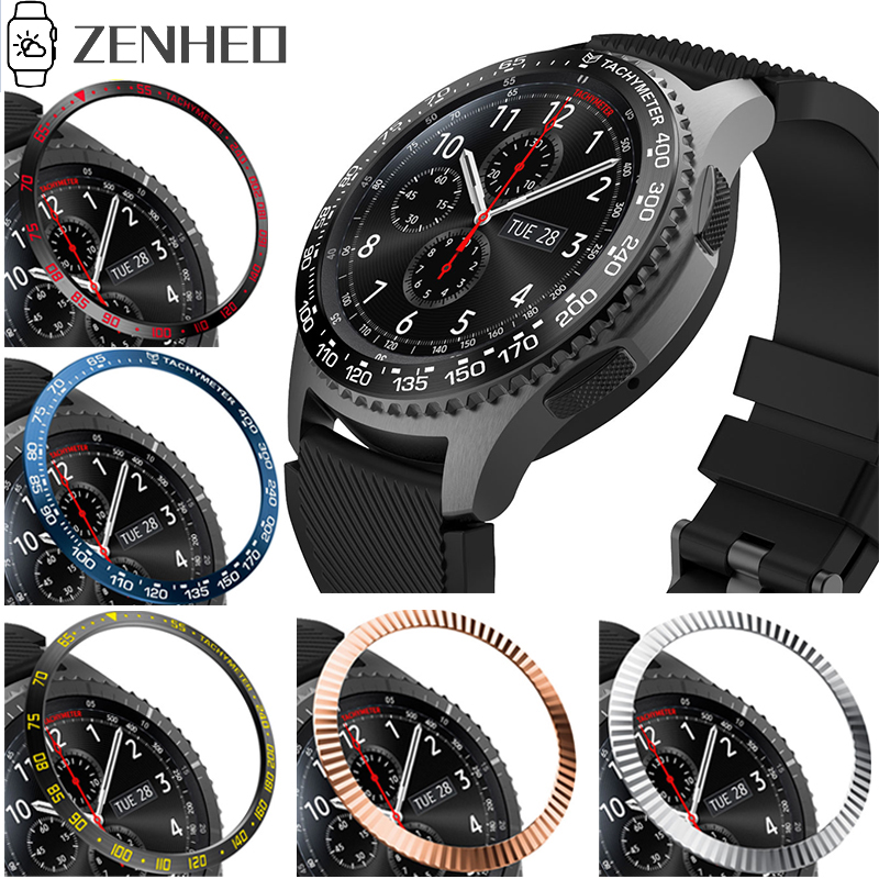 Bezel Ring Frame For Samsung Galaxy Watch 46mm 42mm Gear S3 Frontier Case Cover Protector Ring Anti Scratch Protection