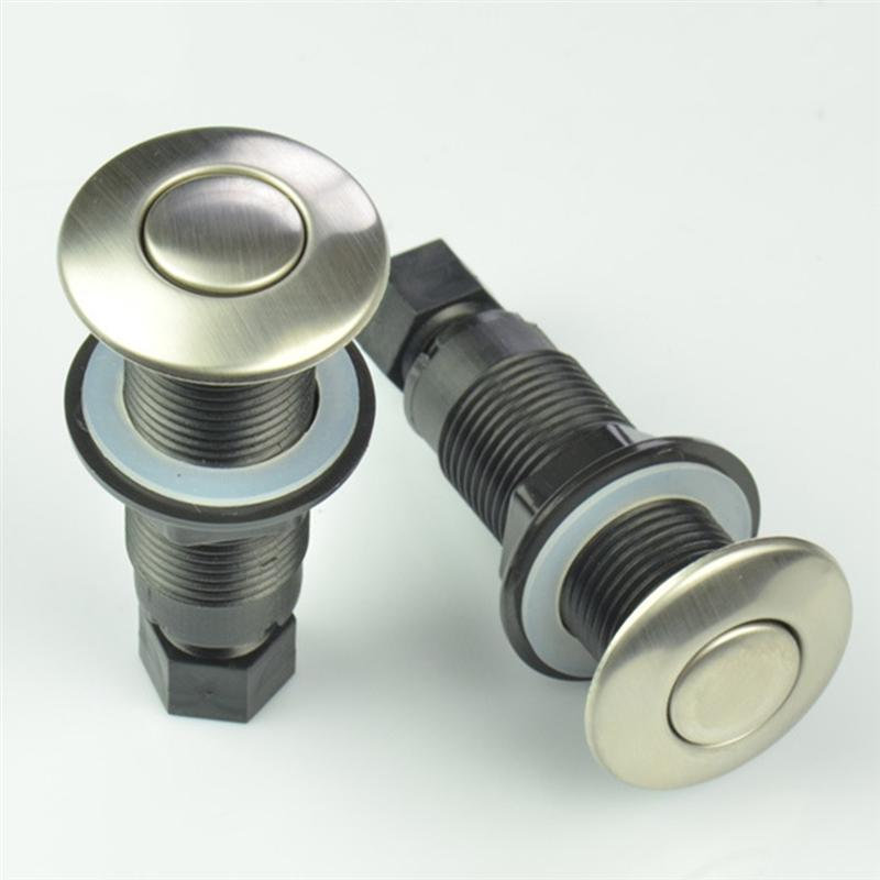 25mm Air Activated Push Switch Stainless Steel Food Waste Processor Air Switch Jacuzzi Pneumatic Button On-off Accessory