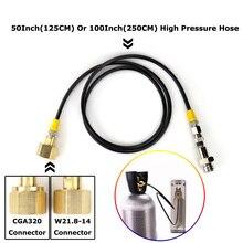 חדש סודה זרם SodaStream/סודה מועדון כדי חיצוני Co2 טנק מתאם וצינור ערכת W21.8 14 או CGA320 W/ניתוק מהיר מחבר