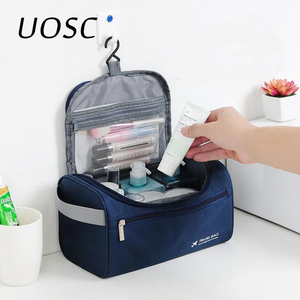 UOSC Men Hanging Cosmetic Bag Business Makeup Case Women Travel Make Up Zipper Organizer Storage Pouch Toiletry Wash Bath Kit(China)