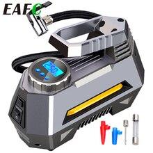 Tragbare Luft Kompressor Reifen Inflator Auto Reifen Pumpe Mit Digital Manometer (150 Psi 12V DC) helle Notfall Taschenlampe