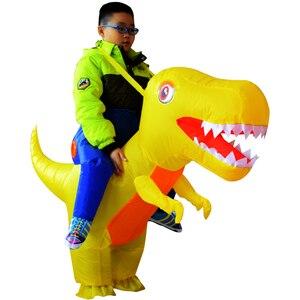 Image 3 - Надувной костюм динозавра дракона для взрослых и детей, маскарадный костюм T Rex на Хэллоуин, детские костюмы динозавра Пурим