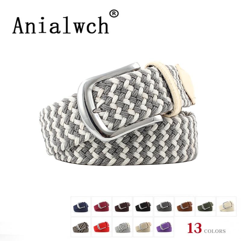 106x2.5cm New Mens Casual Stretch Woven Belt Women's Wide Elastic Belts For Woman Jeans Knitted Belts Men Modeling Cinturon N081