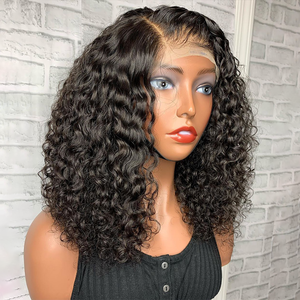 Image 1 - 150% Curly Bob Wig 13x4 Lace Front Human Hair Wigs For Women With Natural Hairline Glueless Brazilian Remy lace wig