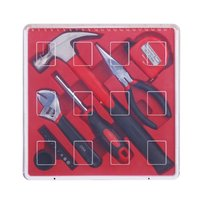 17PCS Household Repair Hand Tool Kit Set with Plastic Storage Case Hammer Pliers Screwdriver Bits Tape measure|Hand Tool Sets| |  -