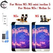 LCD สำหรับ Meizu M5 M5s LCD M5 MINI M5mini จอแสดงผล Touch Screen Digitizer ASSEMBLY Meilan 5 M611A M611H M611D จอแสดงผล meilan 5 S LCD