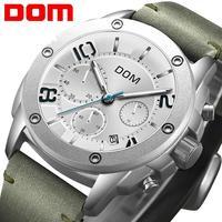 DOM 2019 Neue Sport Männer Uhren Top-marke Luxus Chronograph Quarz Uhr Männer Wasserdichte Uhr Uhr Relogio Masculino