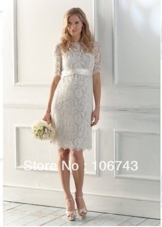 Free Shipping 2018 New Sexy Bridesmaid Custom Size Lace Bow Knee-length Short Dinner Party Prom Bridal Gown Bridesmaid Dresses