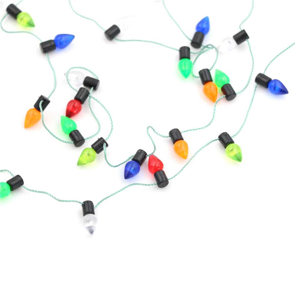 Mini Accessori Per Mobili Luci Della Stringa Accessori Della Bambola 0.5m Stringa Di Falso Luci 1/12 Bilancia Miniatura casa delle bambole 7 Stili