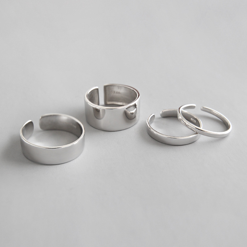4 Styles 100% 925 sterling silver smooth rings for women fine jewelry, fashion ring best friends gifts silver 925 jewellery