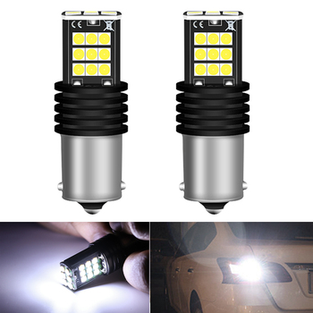2x Car Led White 1156 BA15S Tail Lamp Turn Signal Auto Rear Reverse Bulb DRL For BMW VW Mercedes Audi A3 8P A4 6B BMW E60 E90 image