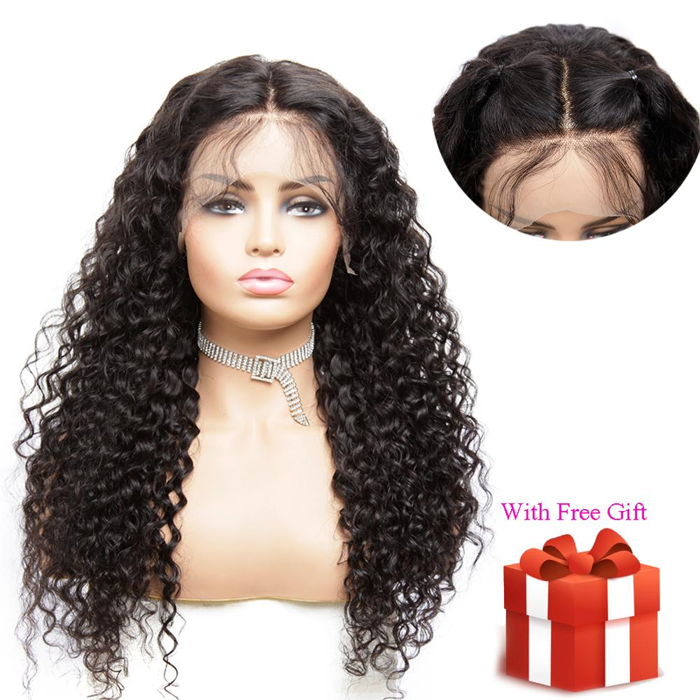 Malaysian 13x4 Lace Front Wigs Pre Plucked Brazilian Hair Remy Water Wave Glueless Short Human Hair Wigs For Black Women 8''26 I