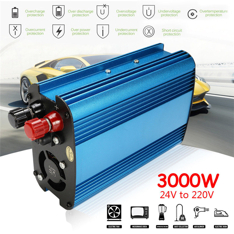 12V/24V To 220V 3000W/4000W Car Power Inverter Sine Wave USB Voltage Transformer Converter Car Inverter Automatic Adaptable