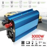 12V/24V To 220V 3000W/4000W Car Power Inverter Sine Wave USB Voltage Transformer Converter Car Inverter Automatic Adaptable