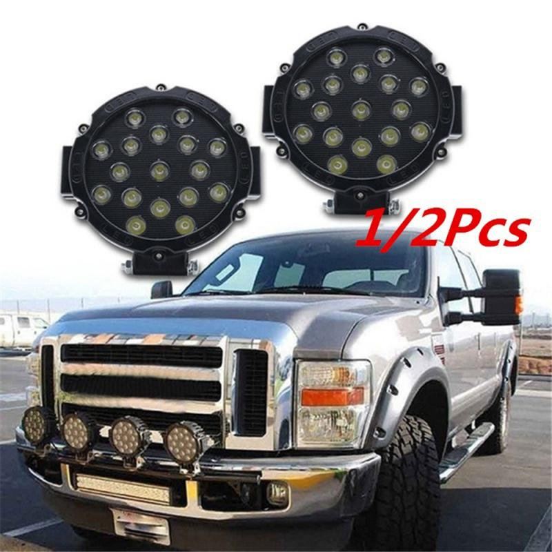 """HIGH POWER 7"""" 51W LED WORK LIGHT WORKING SPOT/FLOOD DRIVING LIGHT BAR FOR OFF ROAD UTE 12V 24V 4x4 4WD BOAT SUV TRUCK JEEP BOAT"""