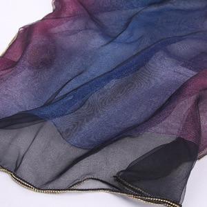 Image 4 - Новое поступление, женские шарфы, 2019 Шелковый шерстяной шарф для женщин, шаль из пашмины, накидка, шали и палантины, хиджаб, платок, бандана, пончо