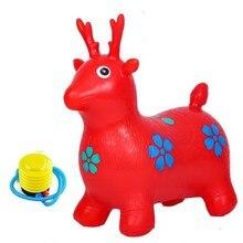 Детские надувные игрушки с большим прыжком, нетоксичные детские игрушки с оленем, Троянские детские игрушки для верховой езды в детском саду