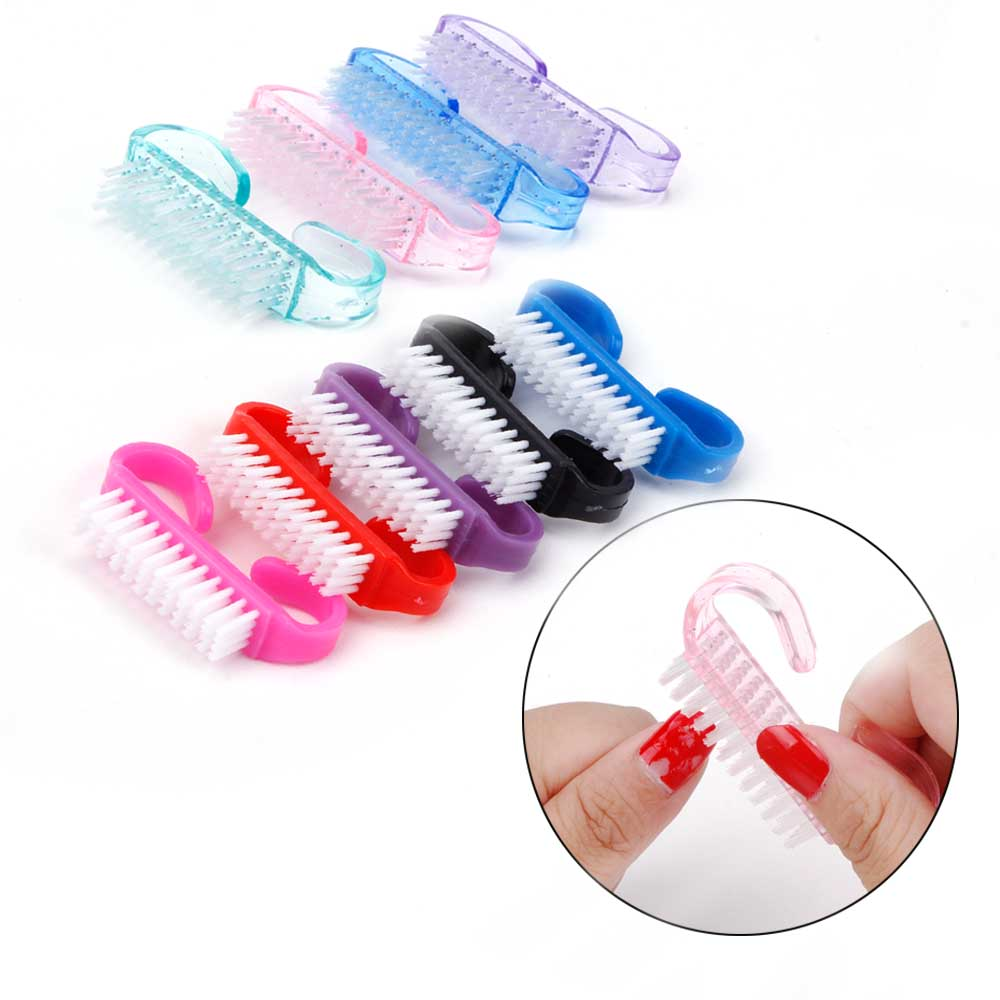 10/50/100Pcs Nail Cleaning Brush Handle Nail Art Manicure Pedicure Tool Plastic UV Gel Nails Remove Dust Clean Care Makeup Washing