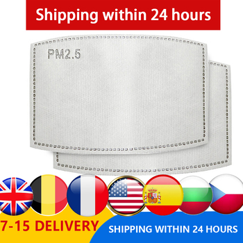 100PCS 5-layer Protective Filter Mask Filter PM2.5 Child Mask Chip Dustproof Haze Prevention US  CZ BE Fast Delivery