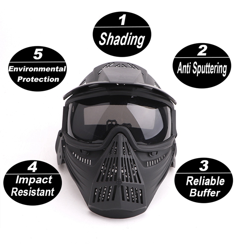 Adjustable Full Face Mask Anti-fog Mouth Protection Hat Outdoor Sportswear Protective Accessories Caps