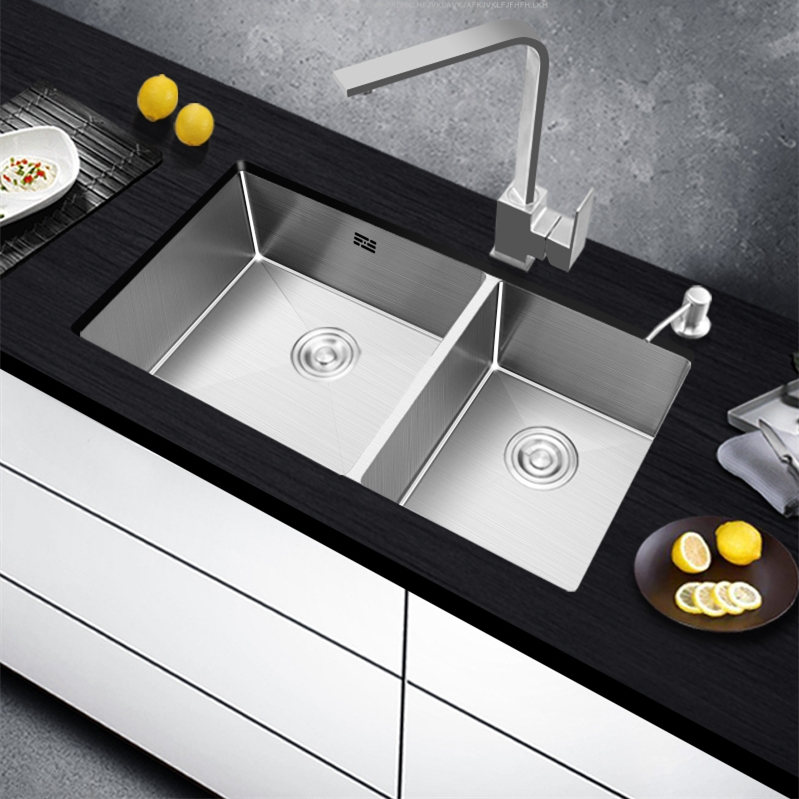 304 stainless steel brushed kitchen sink single bowl kitchen sinks kitchen bowl set under counter basin thick manual sink