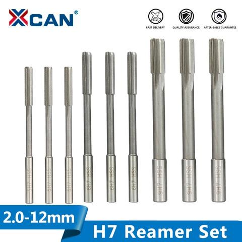 Máquina Reamer Conjunto Haste Reta Fresadora Reamers Chucking Cortador Ferramenta 2.0-12mm Hss h7