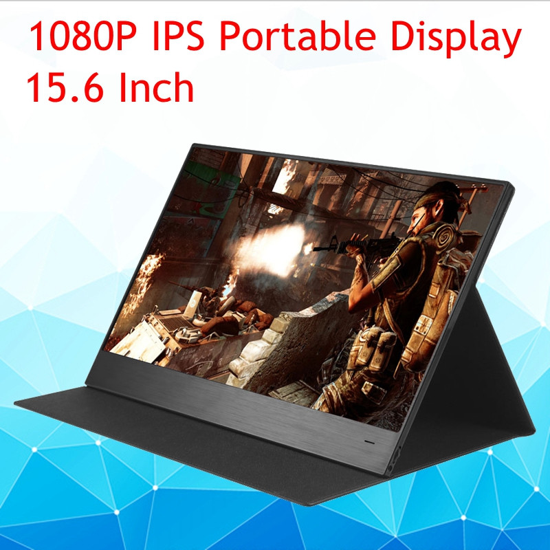 15.6 inch IPS Quad- HD Computer <font><b>Portable</b></font> Touch <font><b>Monitor</b></font> PC <font><b>1080P</b></font> 6mm Thin LED Display for laptop,phone,for xbox,switch for ps4 image
