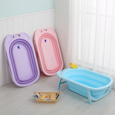 Foldable bathtub children lying non-slip thickening universal bath barrel oversized baby newborn supplies baby bathtub