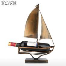 Zeilen Wijn Fles Houder Iron Art Europese Creatieve Wijnrek Klassieke Fles Opslag Houder Praktische Decoratie