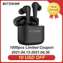 [Dual Anc] Blitzwolf BW-FYE11 Tws Bluetooth V5.0 Oortelefoon Actieve Ruisonderdrukking Met 4 Mic Hifi Stereo Hd Gesprekken touch Control