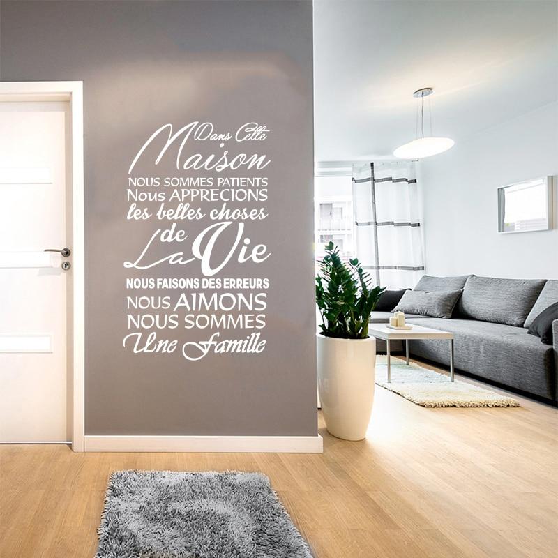 Etiqueta de la pared de vinilo extraíble francés Dans Cette Maison - Decoración del hogar - foto 5