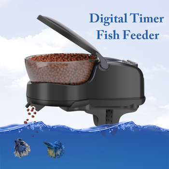 Black Automatic Aquarium Fish Food Feeder Electronic Timing Timer Tank Home Digital Sucker Pet Supplies Goldfish Ornamental фото