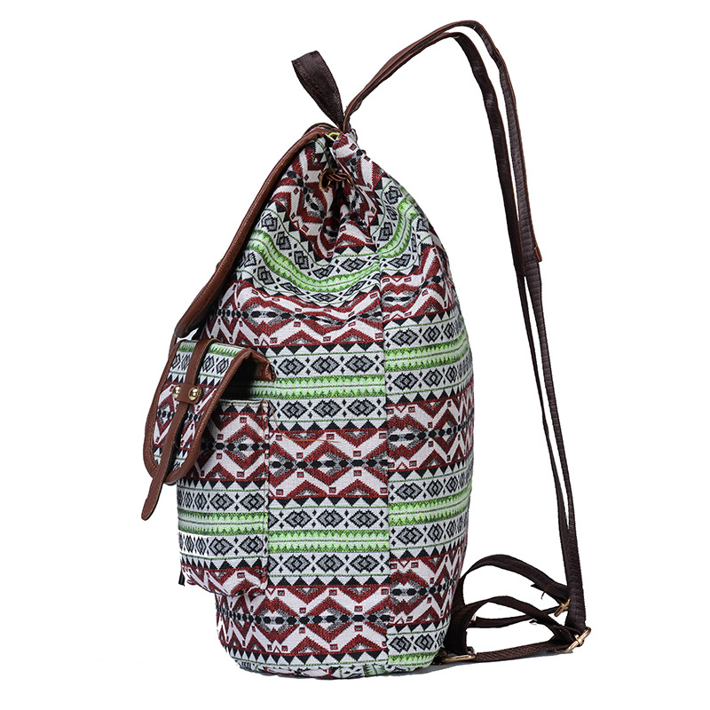 2020 Vintage Embroidery Ethnic Canvas Backpack 3