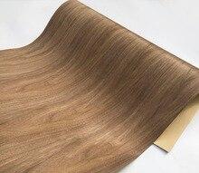 Lengh:2.5meters  Width:62cm Thickness:0.35mm Black Walnut Wood Veneer(Back Kraft  paper)