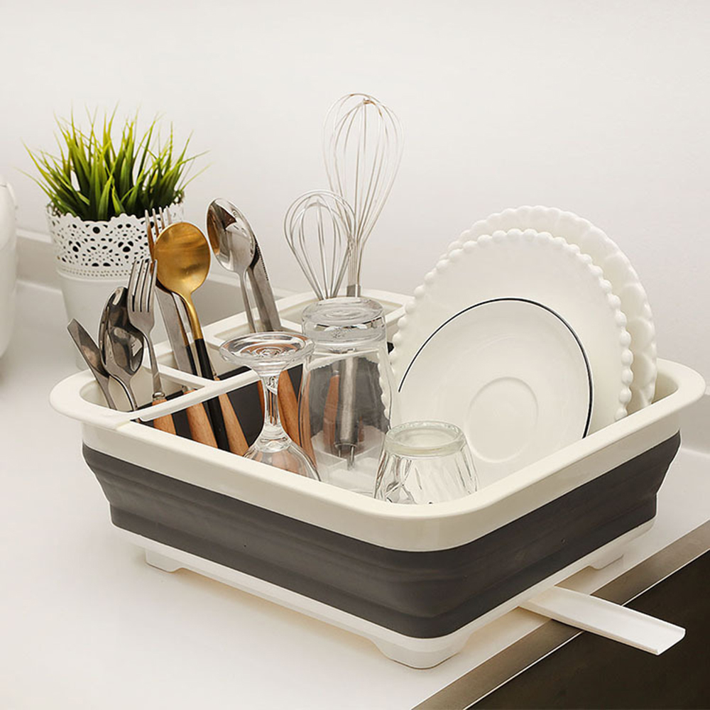 Kitchen Accessories Dish Rack Set Dish Cutlery Cup Rack With Tray Steel Drain Bowl Rack  Dish Rack Drainer сито друшлаг воронка