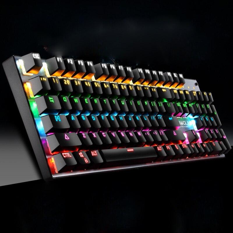 Купить механическая клавиатура игровая с 104 клавишами для ноутбука