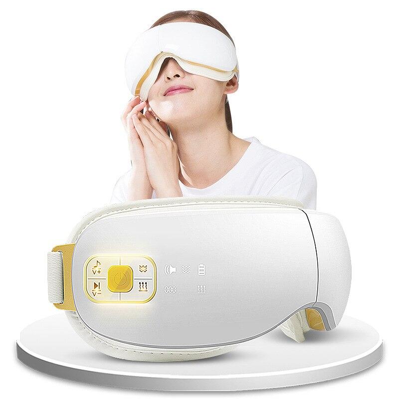 Высококлассный Интеллектуальный беспроводной массажер для глаз с воздушным давлением Вибрация термоупаковка защита для глаз аппарат для ...