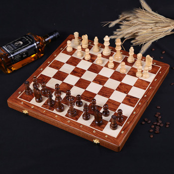 Buy Best Wooden Chess Set Table Game High Grade 4 Queen Chess Game King Height 80 mm Chess Pieces 39*39 cm Mahogany Chessboard-