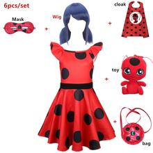 Carnival Girls cosplay costume red bug Dress Childrens day clothing Birthday Party Kids Halloween Costume