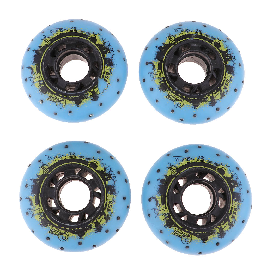 4x Light Up Speed Skating Wheels Outdoor Inline Skate Fire Flash Wheels